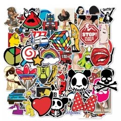 50PCS Fashion Style Graffiti Stickers DIY Luggage Laptop Car Motorcycle Bicycle Stickers Random Random style one size