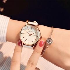 Polygonal dial design women watches luxury fashion dress quartz watch ladies leather wristwatch white