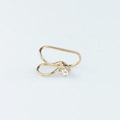 Fashion Multi-style trend Women's U-shaped earrings Heart shaped butterfly Feminine earrings Jewelry 1 silver