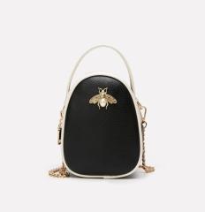 Han edition single shoulder bag handbag bees inclined shoulder bag Chain package Women Bag black ASL
