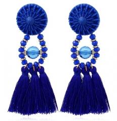 Women Brand Boho Drop Dangle Fringe Earring Vintage ethnic Statement Tassel earrings fashion jewelry 1 one size