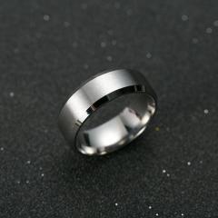 Ring Men Titanium Black silvery 6