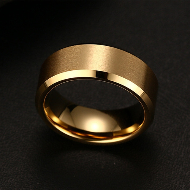 Titanium Ring Men gold 6