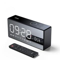 Bluetooth Metal Portable Bass Wireless Mirror Remote Control Speaker 3D Digital Sound Loudspeaker black unspecified 20*9*5.8cm