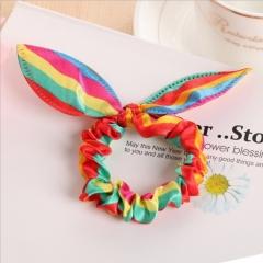 Rabbit Ears Hair Band Kids Hair Accessories Scrunchies Elastic Hair Band For Women Girl Rubber Band 1 2pcs