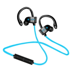 Bluetooth headphones RT558 waterproof wireless headphone sports bass bluetooth earphone with mic blue