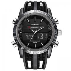 Watches Men Sports Watches Waterproof LED Digital Quartz Men Military Wrist Watch Clock Male black