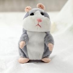 15cm Lovely Talking Hamster Speak Talk Sound Record Repeat Stuffed Plush Animal Hamster Toys gray unspecified 16cm+speak