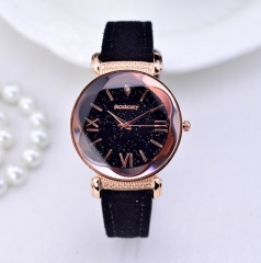 New Fashion Gogoey Brand Rose Gold Leather Watches Women ladies casual dress quartz wristwatch black