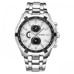 2018 Luxury full steel Watch Men Business Casual quartz Wrist Watches Military Wristwatch waterproof 1