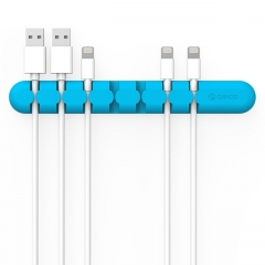 Cable Winder Earphone Cable Organizer Wire Storage Charger Cable Holder Clips Data line fixer blue H56 a a