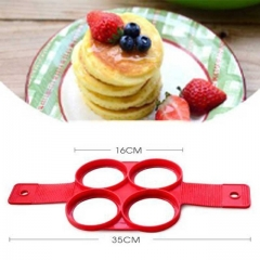 1Pcs Silicone Non Stick Fantastic Egg Pancake Maker Ring Kitchen Baking Omelet Moulds flip cooker circular DIY