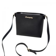 2018 Fashion For Women Solid zipper Shoulder Bag Crossbody Bag Messenger Phone Coin Bag korean Style black one size