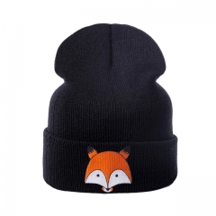 New Fashion Children Hat For Girls Winter Baby Hat For Boys Hats Warm Knitted Baby Cap For Girls Cap black a
