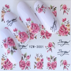 Nail Stickers on Nails Flower Stickers for Nails Lavender Nail Art Water Transfer Stickers Decals 1