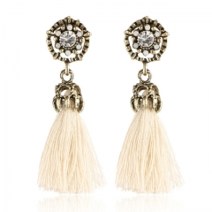 Tiny Tassel Earrings for Women Fashion Jewelry Velvet Ball Statement Fringed Drop Earring Female yellow a