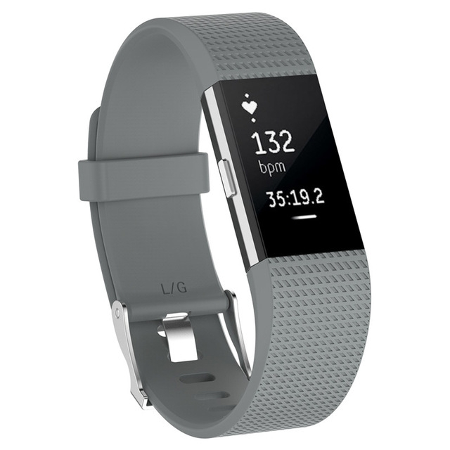 Wristband Wrist Strap Smart Watch Band Strap Soft Watchband Replacement Smartwatch Band For Fitbit gray