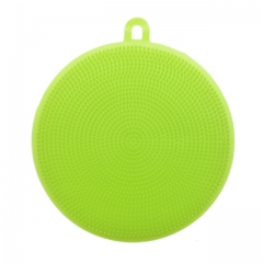 Magic Cleaning Brushes Silicone Bowl Scouring Pad Pot Pan Easy to clean Wash Brush Cleaning Kitchen green a