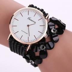 Fashion Flowers Watches Women Dress Elegant Quartz Bracelet Ladies Watch Crystal Diamond Wrist Watch black