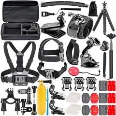 Gopro Accessories Set for go pro hero 7 6 5 4 3 kit 3 way selfie stick for Eken h8r / for xiaomi