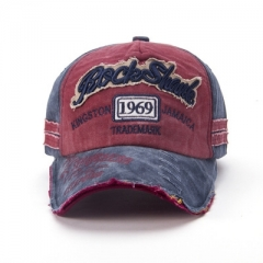 The new hat fashion do old broken edge baseball caps sun hat ,men and women lovers caps red a