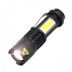 LED Flashlight Portable Mini ZOOM torchflashlight Use AA 14500 Battery Waterproof in life Lighting white a a