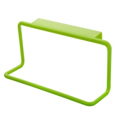 Kitchen Organizer Towel Hanging Holder Bathroom Cabinet Cupboard Hanger Shelf Supplies Accessories green a