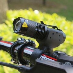 Bicycle Light 7 Watt Lumens 3 Mode Bike LED Front Light lights Torch Waterproof ZOOM flashlight black a AF5