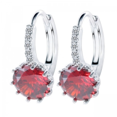 New Platinum Earrings Crystal Sun Flower Zircon Earrings 1 a