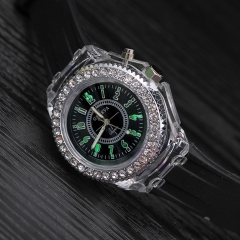 LED Luminous Fashion Ladies Outdoor Watch Women's Men colorful Sports WristWatches Men Watch black