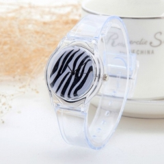 Transparent Clock Silicon Watch Women Casual Quartz Wristwatches Novelty Crystal Ladies Watches 1
