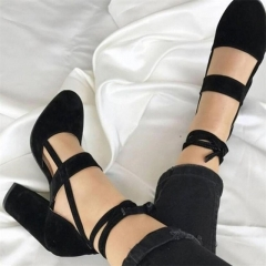 Sexy Gladiator High Heels 8CM Women Pumps Wedding Dress Shoes Woman Valentine High Heels Shoes black 35