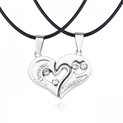 Necklace Pendant Couples Paired Necklaces&Pendants Unisex Lovers Pendant silver a