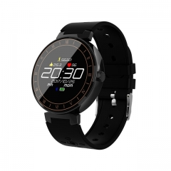 Sport Smart Watch IP68 Waterproof Touch Screen Smartwatch Support Blood Pressure Blood Oxygen Heart black