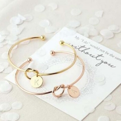 New Fashion Rose Gold / Silver Alloy of the Charter chain bracelet jewelry Female Personality white A