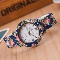Fashion design Ladies flower wristwatch women dress watch ceramic sweet girls Bracelet watches Clock 1