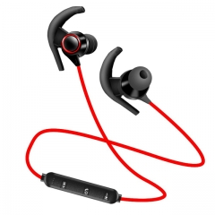 Bluetooth Headset Wireless Headset Stereo Headphone Earphone for iPhone Sports IPX4 Xiaomi Huawei red
