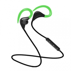 Mini Wireless BT7 Bluetooth Headset Handsfree Bluetooth Headset Headphone for iPhone smart phone green
