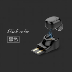 Wireless Bluetooth Headset X11 Car Bluetooth Headset USB Magnetic Charging Mini Bluetooth Headset black