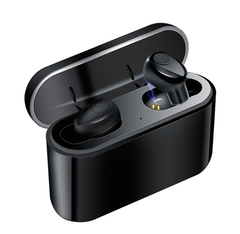 Bluetooth Earphone 5.0 Wireless Headphone Bass Headset with 2200 mAh Charging Box Power Bank black