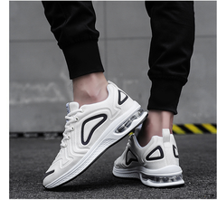 2019 new men's shoes sports shoes breathable flying woven mesh shoes cushion shoes large size white 39