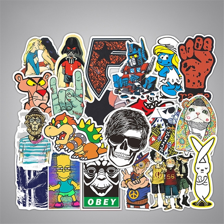 50PCS Style Graffiti Stickers DIY Luggage Laptop Skateboard Car Motorcycle Bicycle Stickers 50pcs/set 6-12cm