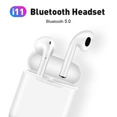 i11 tws Wireless Earphone Bluetooth 5.0 Stereo 3D Headphone TWS Mini Earbuds Headset white