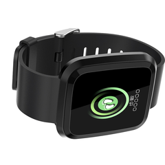 New L18 smart bracelet 1.3 color screen full metal heart rate blood pressure IP68 pedometer sleep black