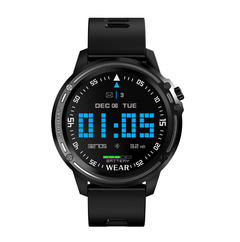 L8 Smart Watch Men IP68 Waterproof Reloj Hombre Mode SmartWatch With ECG PPG Blood Pressure black