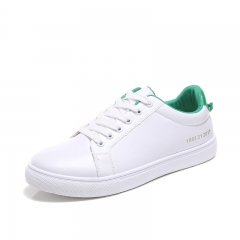 Men Sneakers low-top shoes casual shoes  waterproof men shoes flat  shoes male white green 39