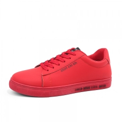 Men Sneakers low-top shoes casual shoes  waterproof men shoes flat  shoes male red 39