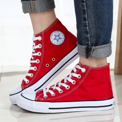 Summer new classic pair of canvas Sneakers Sport Leisure shoes men and women Trend Casual shoes red 39