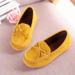 Children's sports suede loafers boys and girls Breathable casual Single Flats toddler Sneakers yellow 21