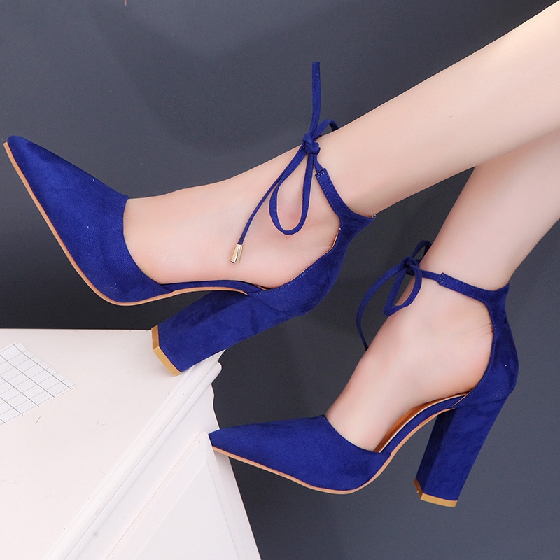 4e824216397 ... Straps Pointy High Thin Heels Wedding Party Dress Fashion Large Size Shoes  royal blue 34  Product No  542048. Item specifics  Brand